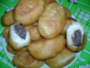 Пирожки с ливером и картофелем